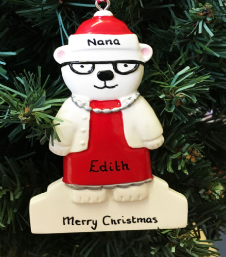 Personalised Polar Bear Lady